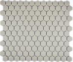 Mosaik Fliese Keramik Hexagon hellgrau unglasiert Mosaikwand Küchenrückwand  MOS11A-0202-R10