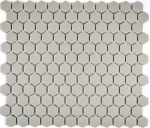 Mosaik Fliese Keramik Hexagon hellgrau unglasiert MOS11A-0202-R10