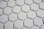 Mosaik Fliese Keramik Hexagon hellgrau unglasiert Mosaikwand Küchenrückwand  MOS11A-0202-R10_m