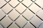 Mosaik Fliese Keramik hellbeige unglasiert Duschtasse Bodenfliese MOS18B-1211-R10_m