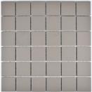 Mosaik Fliese Keramik hellgrau unglasiert Küchenrückwand Spritzschutz MOS14-1202