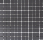 Mosaik Fliese Keramik schwarz unglasiert MOS18B-0311-R10