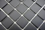 Mosaik Fliese Keramik schwarz unglasiert Duschtasse Bodenfliese MOS18B-0311-R10_m