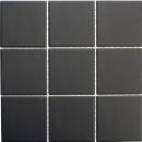 Mosaik Fliese Keramik schwarz unglasiert MOS14-CU922