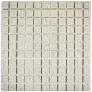 Mosaik Fliese Keramik cremeweiß gesprenkelt unglasiert Duschtasse Bodenfliese MOS18-0103-R10
