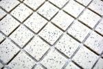 Mosaik Fliese Keramik cremeweiß gesprenkelt unglasiert Duschtasse Bodenfliese MOS18-0103-R10_m