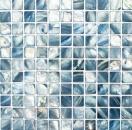 Mosaik Fliese Muschel blaugrau Wandfliesen Badfliese MOS150-SM2582