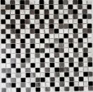 Mosaik Fliese Aluminium Alu alu grau schwarz Fliesenspiegel Küche MOS49-0209