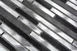 Mosaik Fliese Aluminium Verbund Alu alu grau schwarz Fliesenspiegel Küche MOS49-0306_m