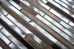 Mosaik Fliese Aluminium beige braun Verbund Alu alu kupfer Fliesenspiegel Küche MOS49-A981_m