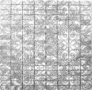 Mosaik Fliese Aluminium Rechteck Alu silber Damasco MOS49-C101D