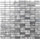 Mosaik Fliese Aluminium Rechteck Alu silber gebürstet poliert Fliesenspiegel Küche MOS49-C201F
