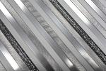 Mosaik Fliese Aluminium Verbund Alu silber matt gebürstet poliert Glitter silber MOS49-L401GS_m