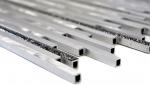 Mosaik Fliese Aluminium Verbund Alu silber matt gebürstet poliert Glitter black MOS49-L402GB_m