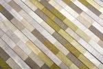 Mosaik Fliese Aluminium hellbraun Verbund Alu Brick gebürstet Coloured Light MOS49-L102L_m