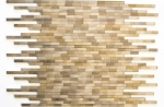 Mosaik Fliese Aluminium braun Verbund Alu Brick gebürstet Coloured Dark MOS49-L103D