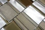Mosaik Fliese Aluminium Transluzent Kombination Alu Glasmosaik Crystal beige braun MOS49-1202_m