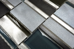 Mosaik Fliese Aluminium Transluzent Kombination Alu Glasmosaik Crystal braun MOS49-0205_m