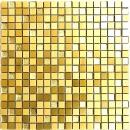 Mosaik Fliese Aluminium Transluzent Alu Glasmosaik Crystal gold MOS49-A307