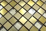 Mosaik Fliese Aluminium Transluzent Alu Glasmosaik Crystal gold MOS49-A307_m