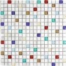 Mosaik Fliese Aluminium Transluzent Alu Glasmosaik Crystal silber bunt MOS49-A702