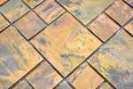 Mosaik Fliese Kupfer kupfer Kombination braun Fliesenspiegel Küche MOS49-1502_m