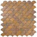 Mosaik Fliese Kupfer kupfer Fächer braun Fliesenspiegel Küche MOS49-1504