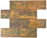 Mosaik Fliese Kupfer kupfer Subway braun Fliesenspiegel Küche MOS49-1508