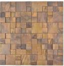 Mosaik Fliese Kupfer kupfer Kombination 3D braun MOS49-1512