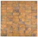 Mosaik Fliese Kupfer kupfer Stäbchen 3D braun Wand Küche MOS49-1514