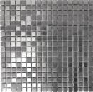 Mosaik Fliese Edelstahl silber silber Stahl gebürstet Fliesenspiegel Küche MOS129-CE15D