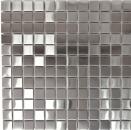 Mosaik Fliese Edelstahl silber silber Stahl gebürstet Fliesenspiegel Küche MOS129-23D