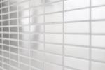 Mosaik Fliese Edelstahl silber Rechteck silber Stahl gebürstet MOS129-1548G_m
