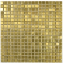 Mosaik Fliese Edelstahl gold Gold Stahl gebürstet Fliesenspiegel Küche MOS129-0707