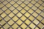 Mosaik Fliese Edelstahl gold Gold Stahl gebürstet Fliesenspiegel Küche MOS129-0707_m