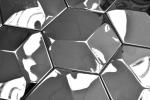 Mosaik Fliese Edelstahl silber Hexagon 3D Stahl glänzend MOS129-HXM10SG_m