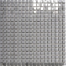 Mosaik Fliese Edelstahl silber silber Stahl glänzend MOS129-15G