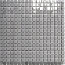 Mosaik Fliese Edelstahl silber silber Stahl glänzend Fliesenspiegel Küche MOS129-15G