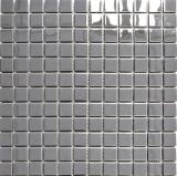 Mosaik Fliese Edelstahl silber silber Stahl glänzend MOS129-23G