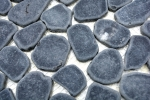 Mosaik Fliese Flußkiesel Steinkiesel Kiesel geschnitten schwarz MOS30-0302_m
