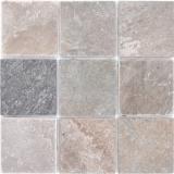 Mosaik Fliese Quarzit Naturstein Quarzit beige grau Küchenrückwand Spritzschutz MOS36-0210