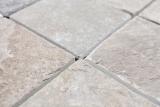 Mosaik Fliese Quarzit Naturstein Quarzit beige grau Küchenrückwand Spritzschutz MOS36-0210_m
