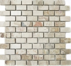 Mosaik Fliese Schiefer Naturstein beige rost Brick Indian Autumn MOSBrick-220
