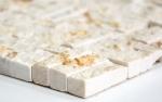 Mosaik Fliese Marmor Naturstein Parkett Splitface sunny beige 3 D MOS42-x3d63_m