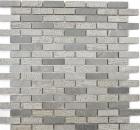Mosaik Fliese Marmor Naturstein grau Brick Stein Carving cement MOS40-B49