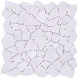 Mosaik Fliese Marmor Naturstein Bruch Ciot weiß MOS44-0102