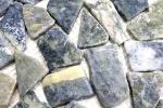 Mosaik Fliese Marmor Naturstein Bruch Ciot grau-grün MOS44-0208_m