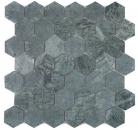 Mosaik Fliese Marmor Naturstein Hexagon Marmor grün MOS44-0210