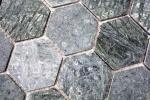 Mosaik Fliese Marmor Naturstein Hexagon Marmor grün MOS44-0210_m