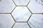 Mosaik Fliese Marmor Naturstein Hexagon Marmor weiß Carrara MOS44-0103_m